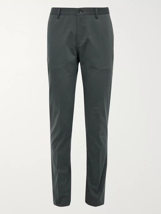 Etro Slim-Fit Stretch-Cotton Gabardine Trousers