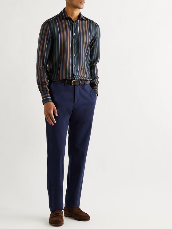 Etro Striped Silk-Twill Shirt