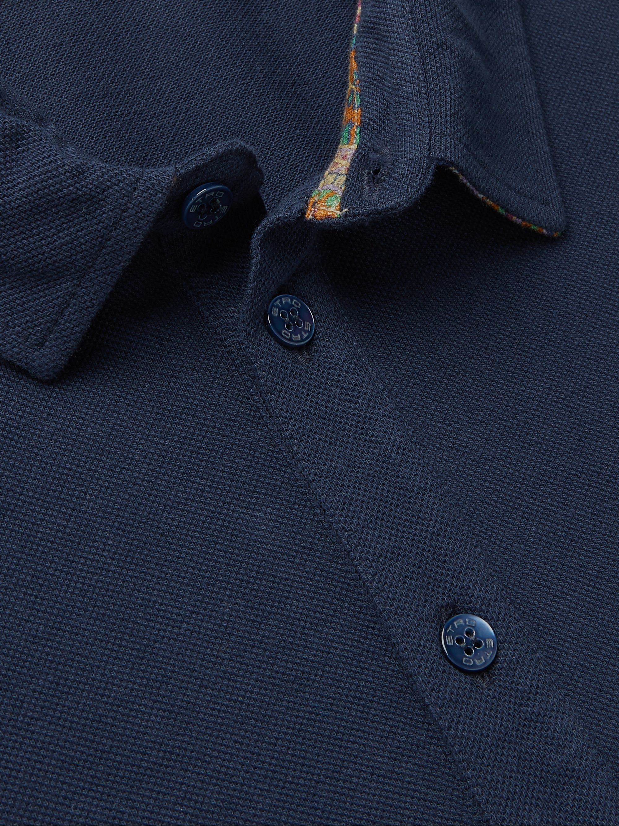 Etro Cotton-Piqué Polo Shirt