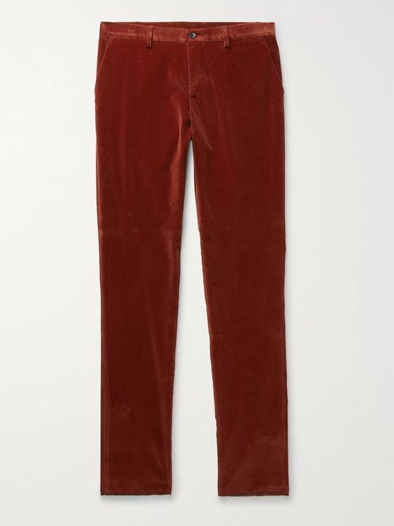 Etro Slim-Fit Stretch-Cotton Corduroy Trousers