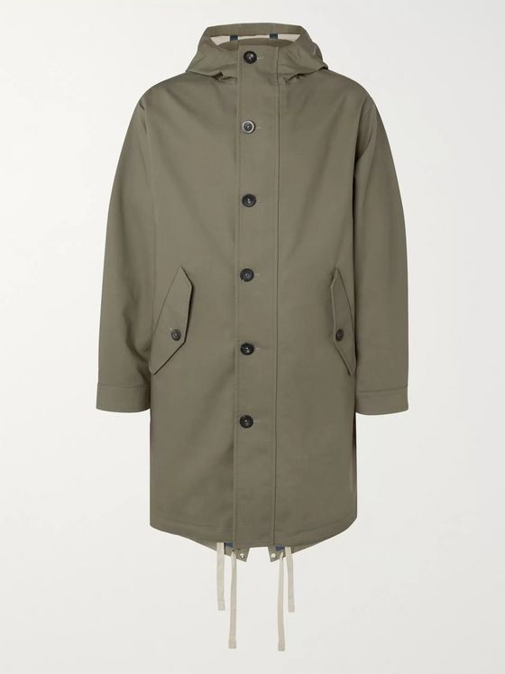 Mr P. Bonded-Cotton Hooded Parka