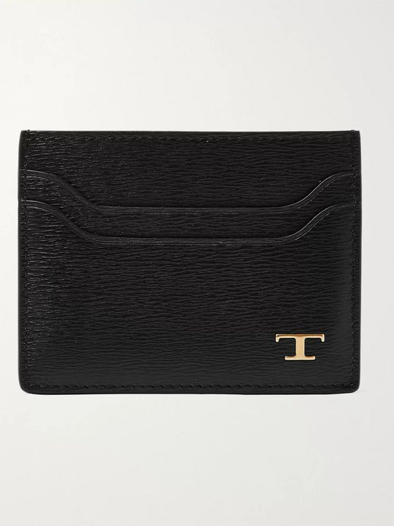 TOD'S Textured-Leather Cardholder