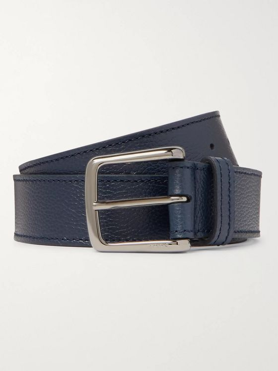 Tod's 3.5cm Full-Grain Leather Belt