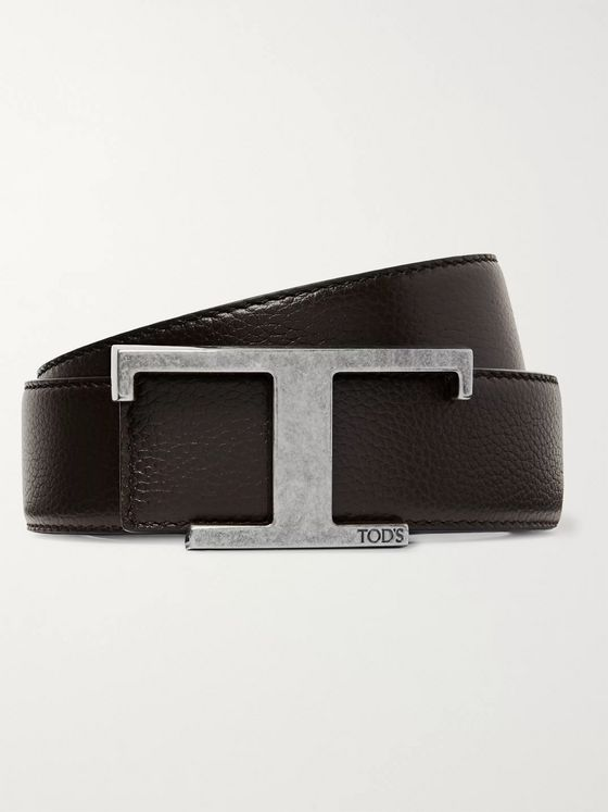 Tod's 3.5cm Reversible Full-Grain Leather Belt