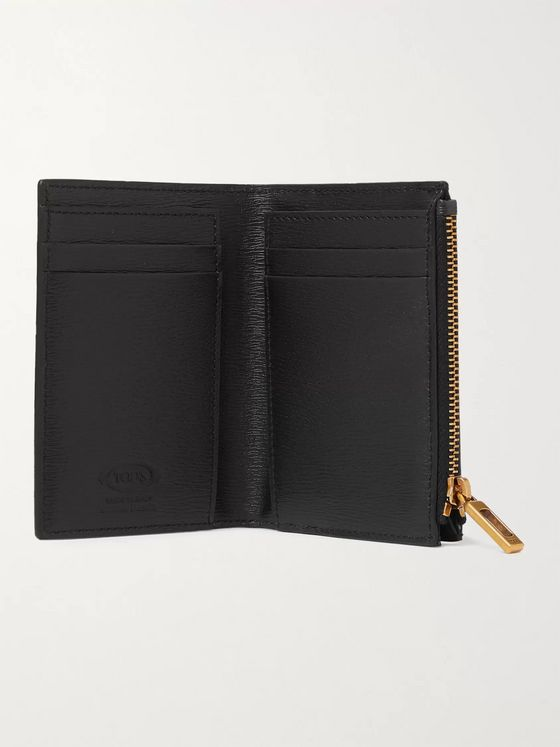 Tod's Logo-Appliquéd Textured-Leather Cardholder