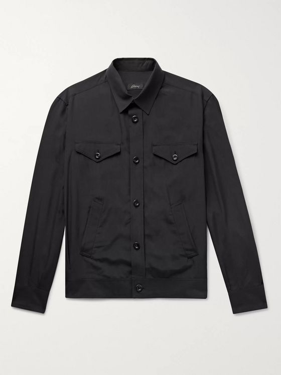 BRIONI Silk Shirt Jacket