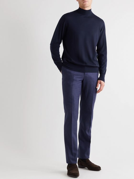 Kingsman Cashmere Mock-Neck Sweater