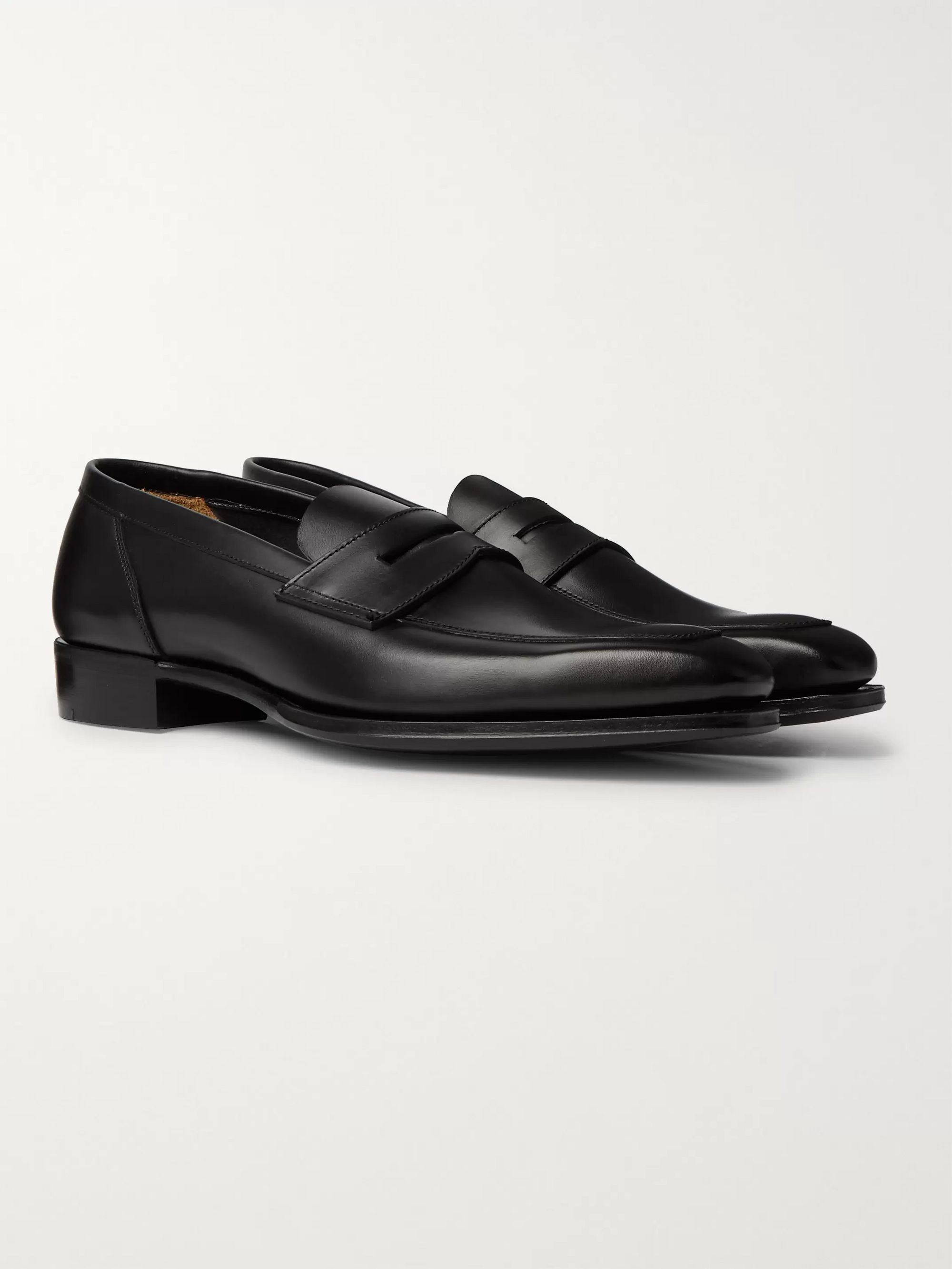 Kingsman + George Cleverley Leather Penny Loafers