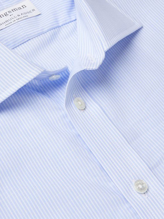 Kingsman + Turnbull & Asser Striped Cotton Shirt