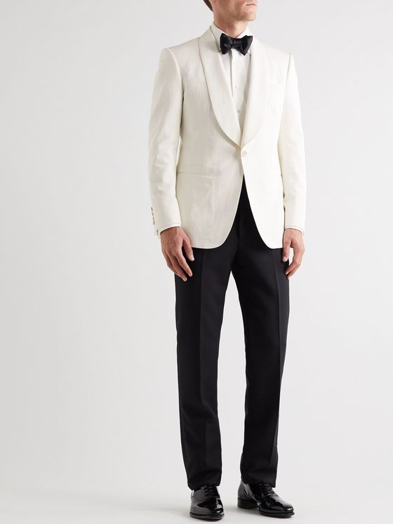 Kingsman Slim-Fit Cotton and Linen-Blend Blazer