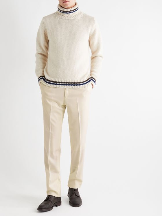 Kingsman Slim-Fit Super 120s Wool Trousers