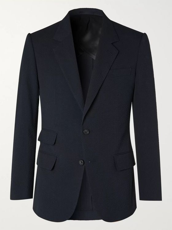 Kingsman Cotton-Seersucker Suit Jacket