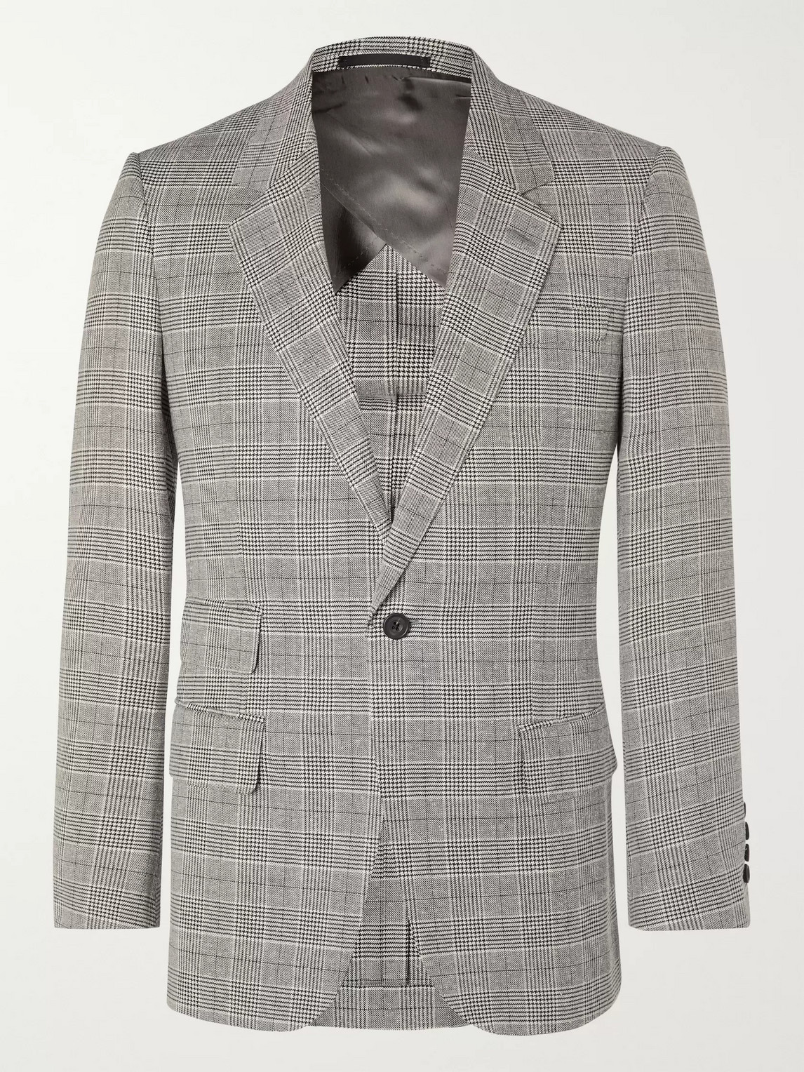 Kingsman Arthur Harrison Prince Of Wales Checked Suit Jacket In Black