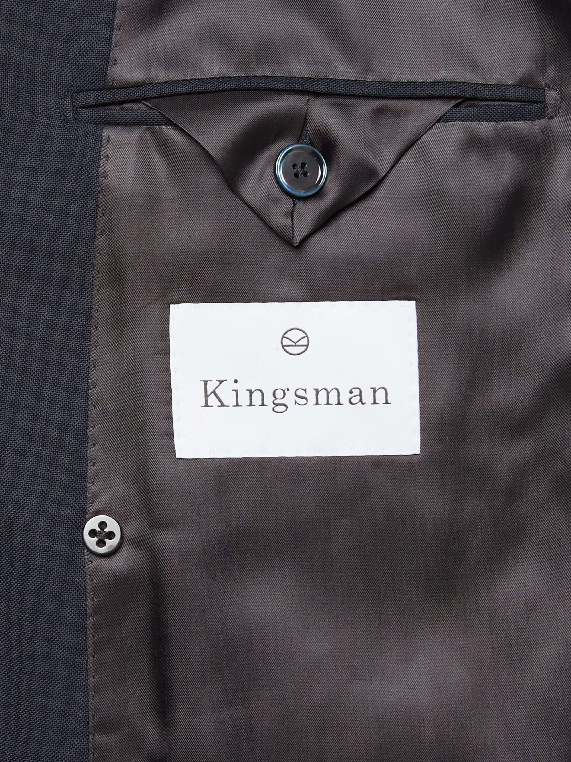 Kingsman Arthur Harrison Double-Breasted Wool Suit Jacket
