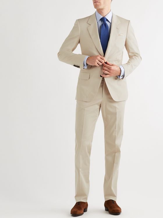Kingsman Slim-Fit Cotton-Blend Twill Suit Trousers
