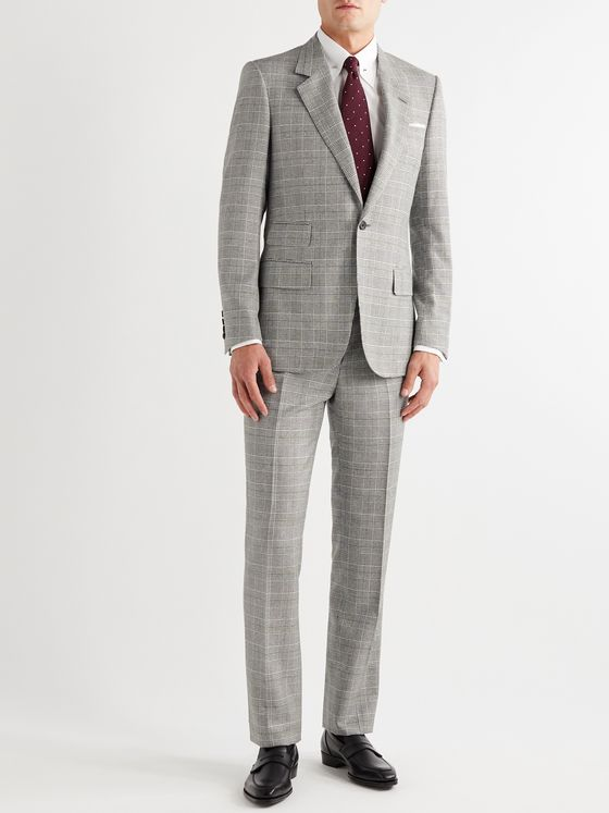 Kingsman Arthur Harrison Slim-Fit Prince of Wales Checked Suit Trousers