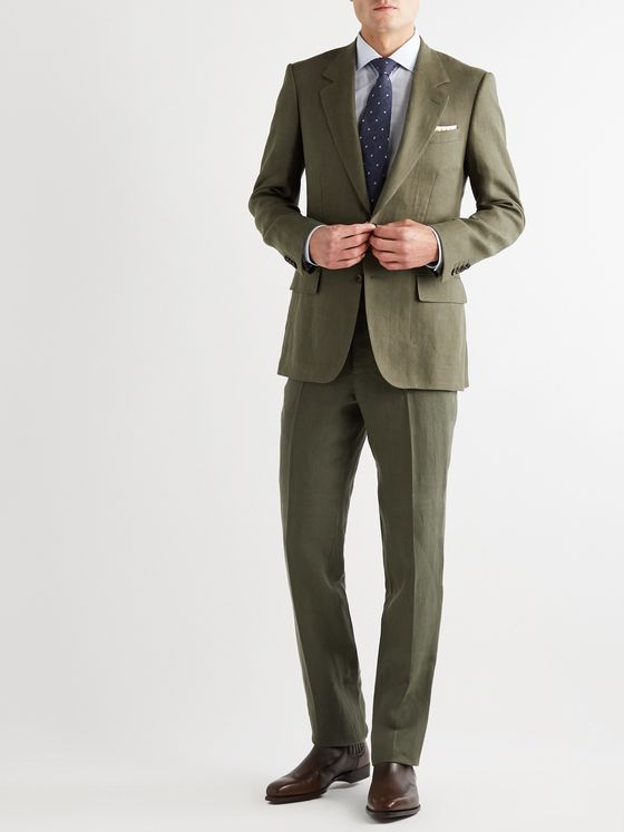 Kingsman Slim-Fit Linen Suit Trousers