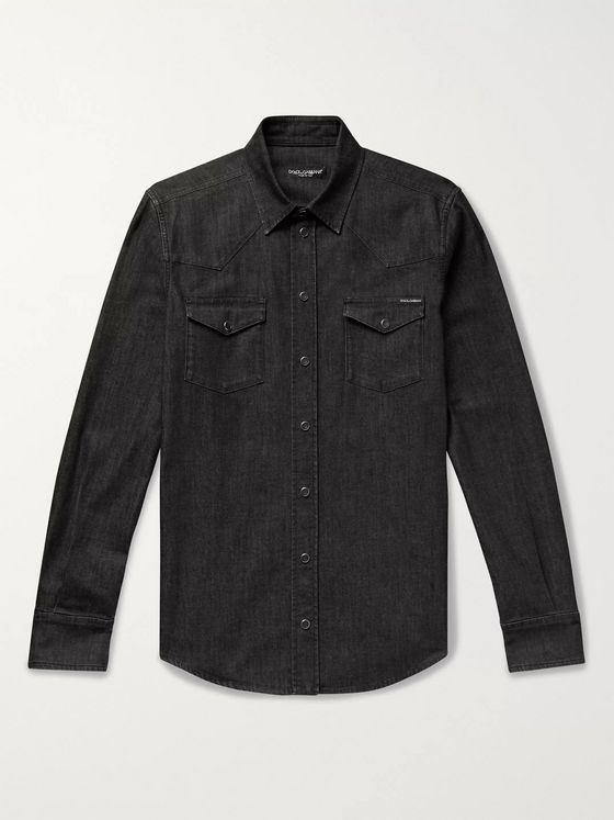 Dolce & Gabbana Slim-Fit Denim Western Shirt