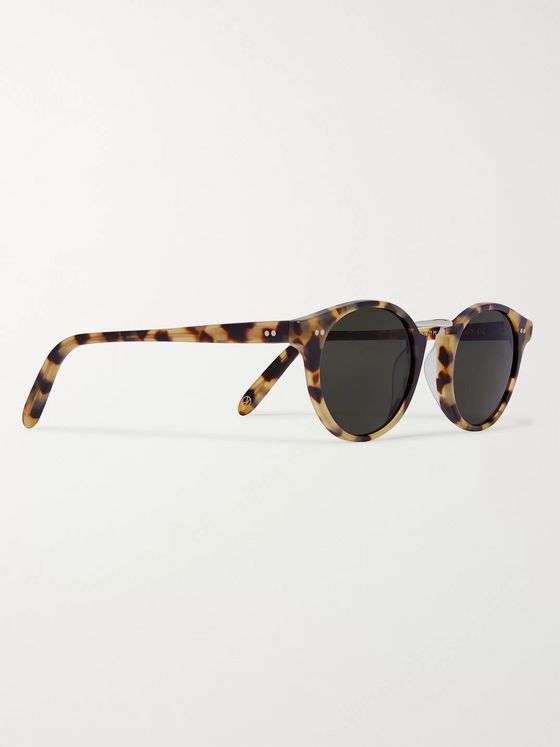 Kingsman + Cutler and Gross Round-Frame Tortoiseshell Acetate and Silver-Tone Metal Sunglasses