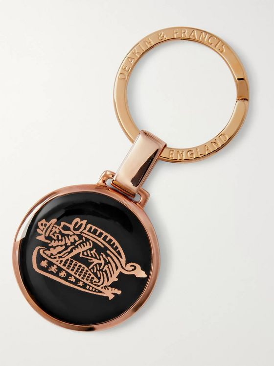 Kingsman + Deakin & Francis Rose Gold-Plated and Enamel Key Fob