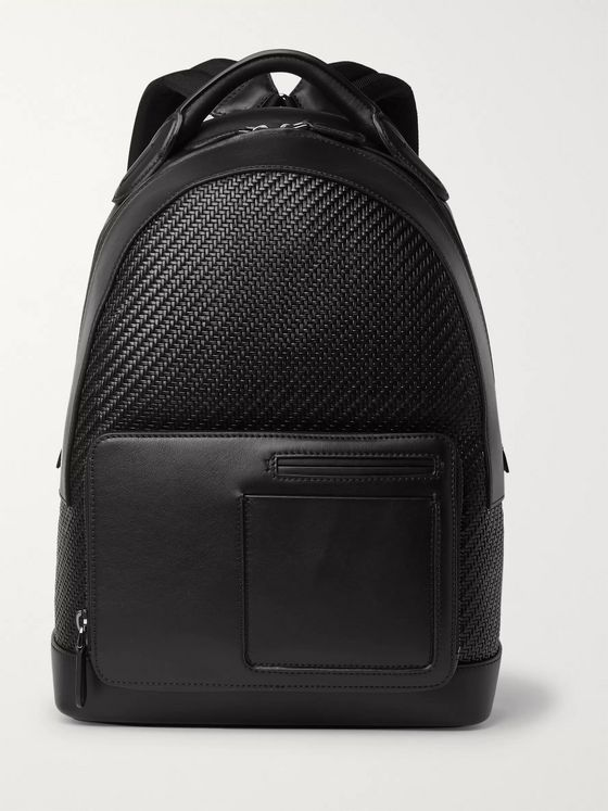 Ermenegildo Zegna Pelle Tessuta and Leather Backpack