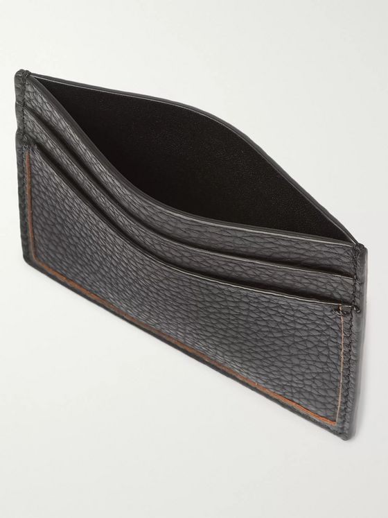 Ermenegildo Zegna Full-Grain Leather Cardholder