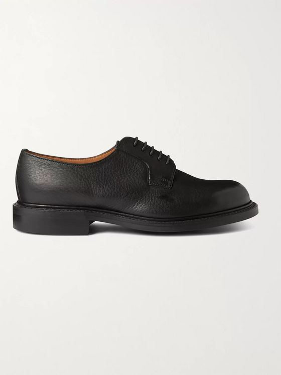 GEORGE CLEVERLEY Archie II Cross-Grain Leather Derby Shoes