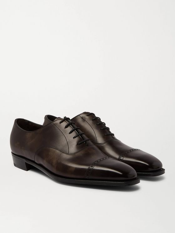 George Cleverley Nakagawa Burnished-Leather Oxford Shoes