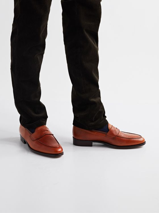 GEORGE CLEVERLEY Bradley II Full-Grain Leather Penny Loafers