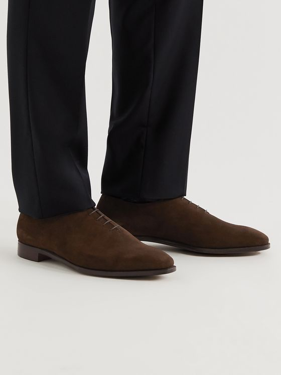 GEORGE CLEVERLEY Alan 3 Suede Oxford Shoes