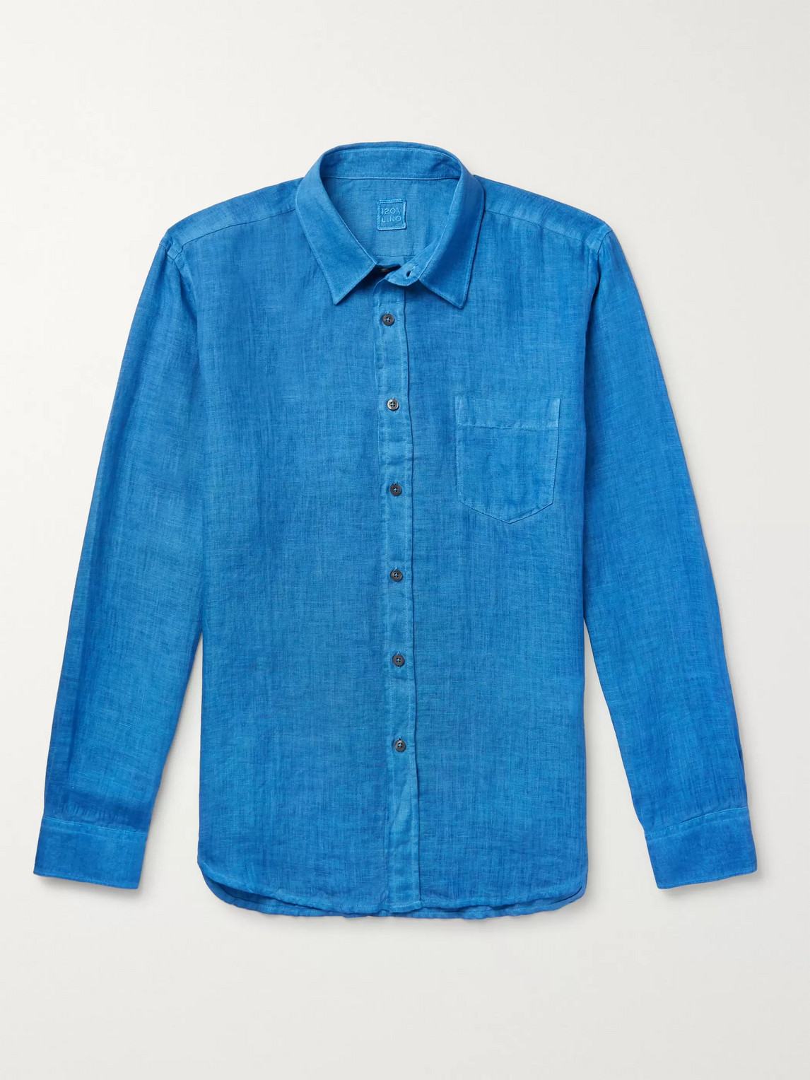 120% Linen Shirt In Blue