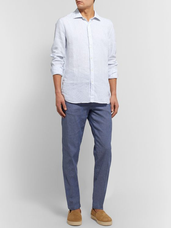 120% Striped Linen Shirt