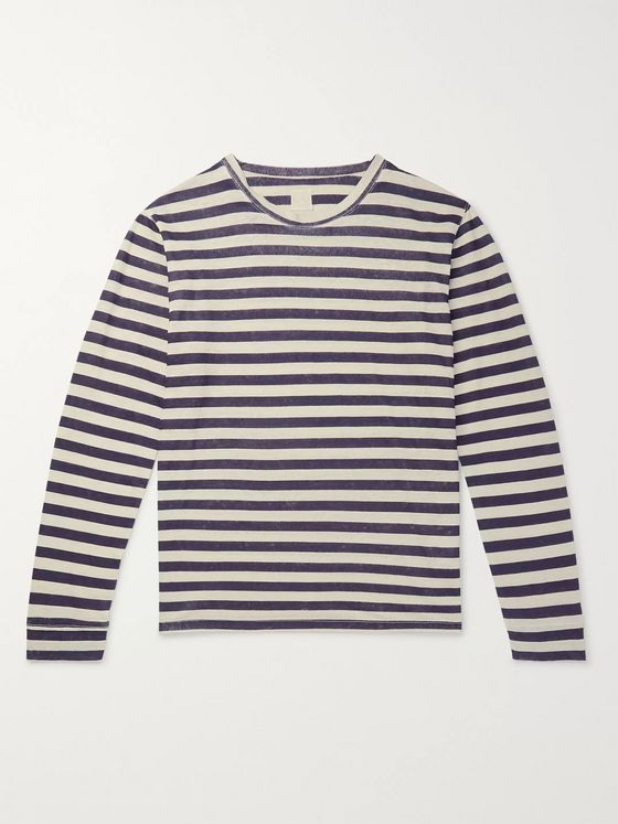 120% Striped Linen T-Shirt
