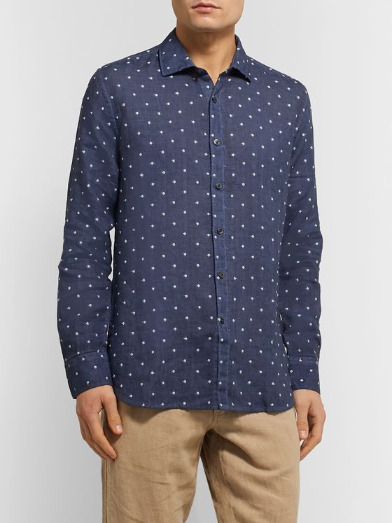 120% Polka-Dot Embroidered Linen Shirt