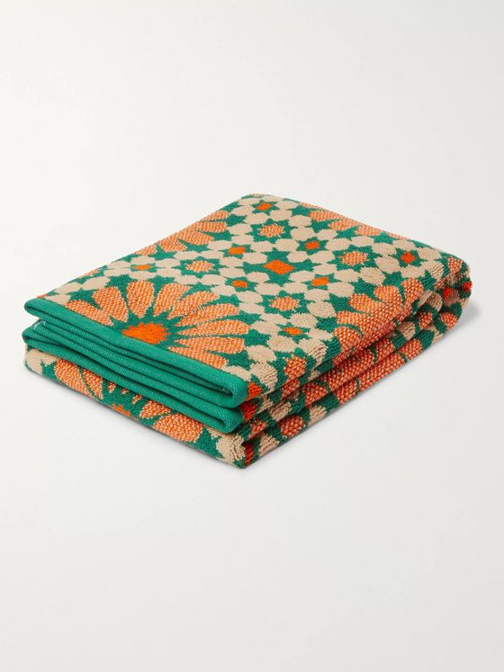 Mollusk Cotton-Blend Jacquard Beach Towel