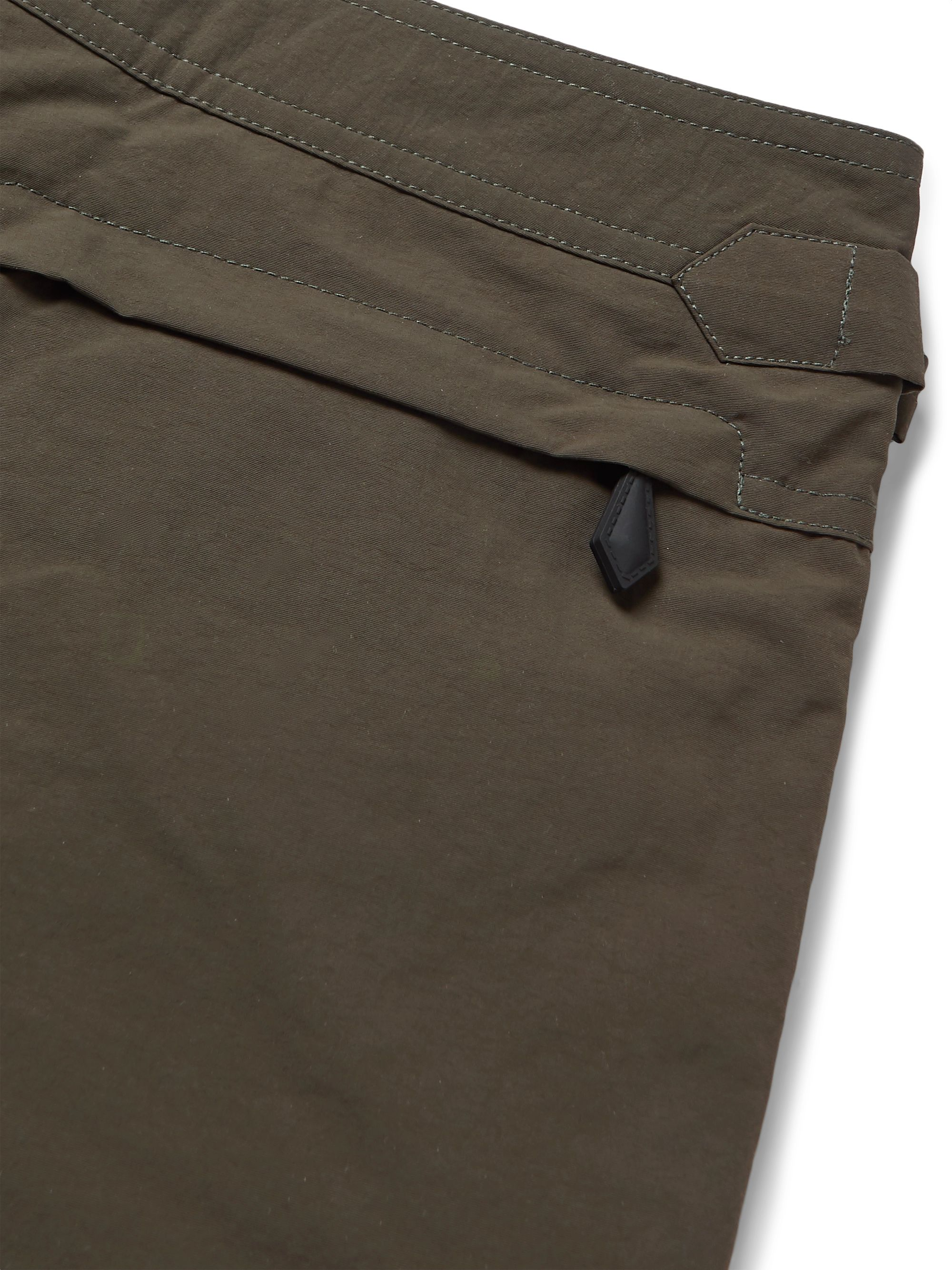 Army Green Slim-fit Mid-length Swim Shorts | Tom Ford