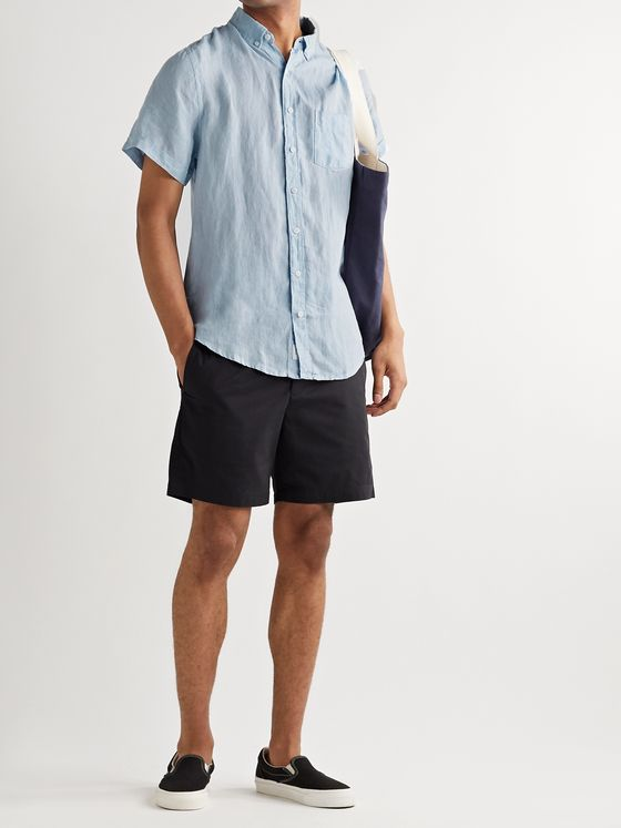 Onia Jack Button-Down Collar Linen Shirt