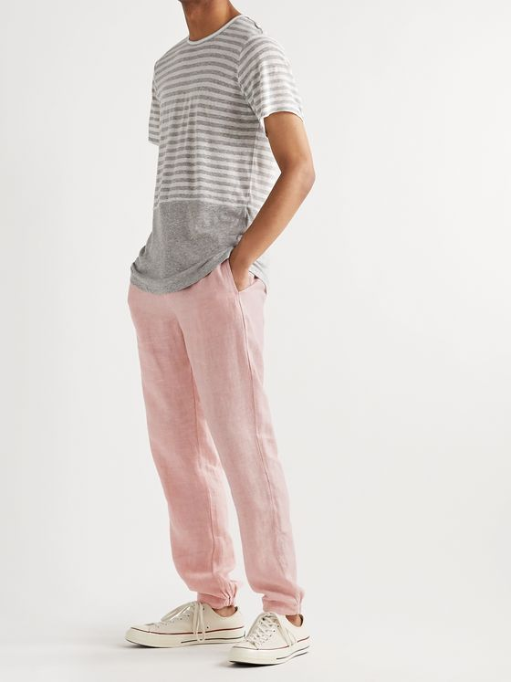 Onia Elijah Tapered Linen Trousers