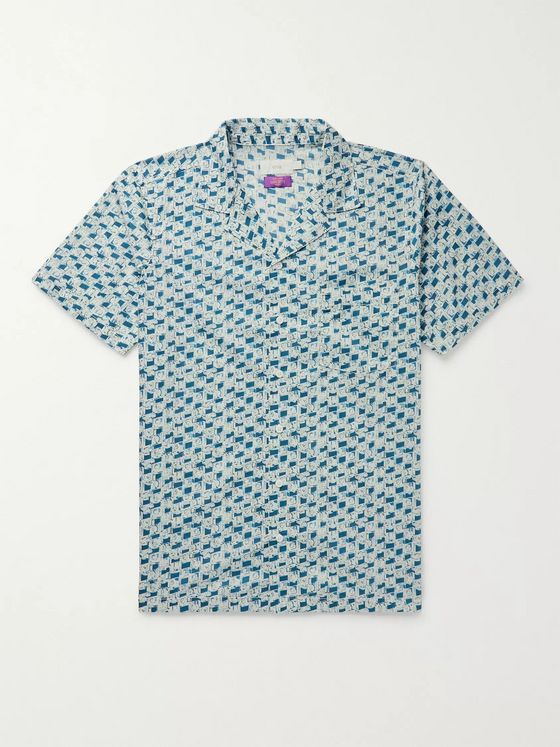 Onia + Liberty London Vacation Camp-Collar Printed Cotton Shirt