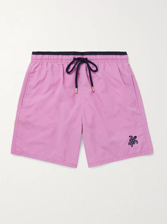 VILEBREQUIN Moka Mid-Length Embroidered Swim Shorts