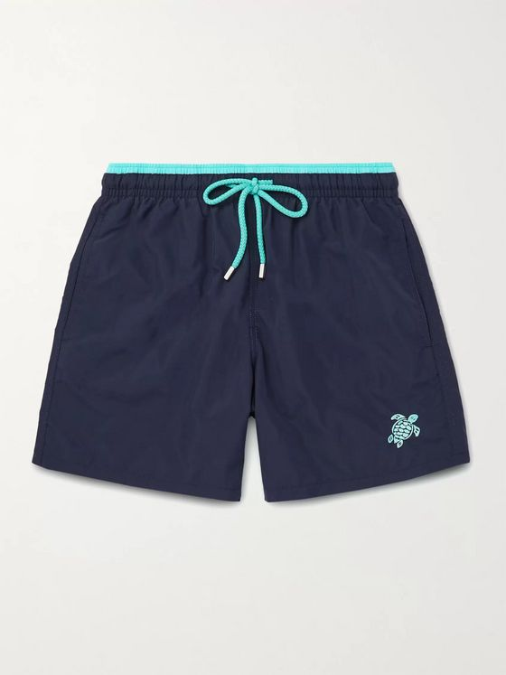 VILEBREQUIN Moka Mid-Length Logo-Embroidered Swim Shorts