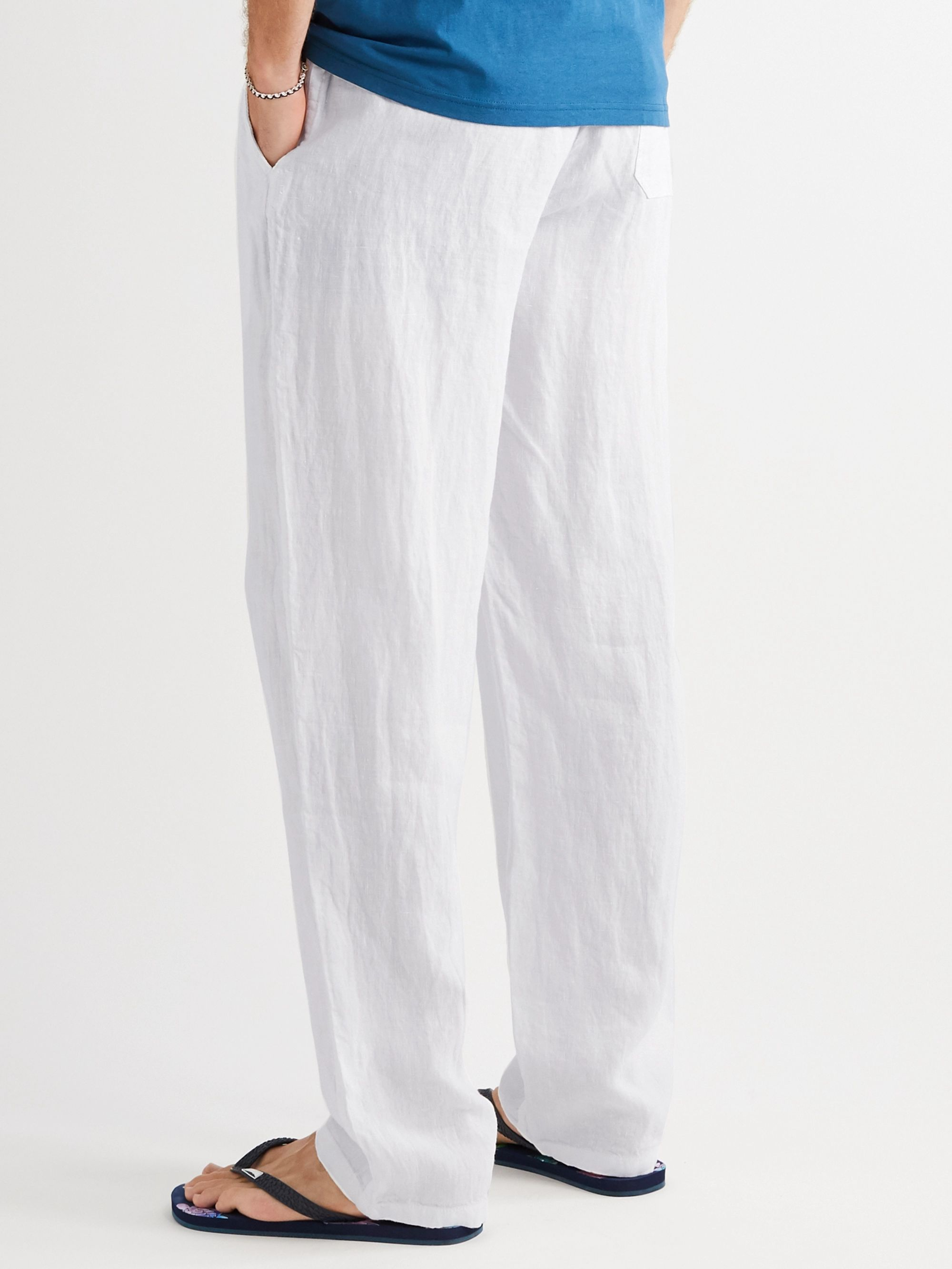 VILEBREQUIN Pacha Wide-Leg Linen Drawstring Trousers