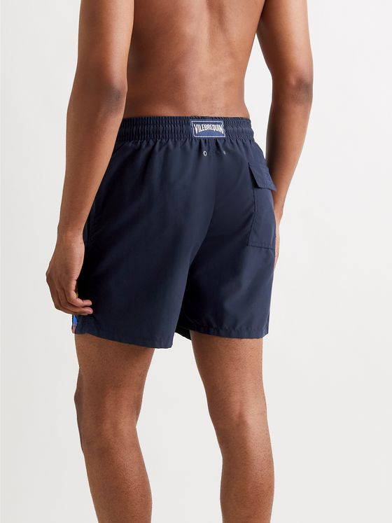 Vilebrequin Motu Mid-Length Logo-Detailed Swim Shorts