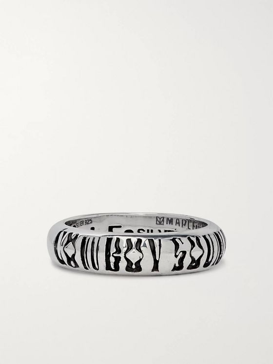 MAPLE Cowboy Soundboy Engraved Sterling Silver Ring