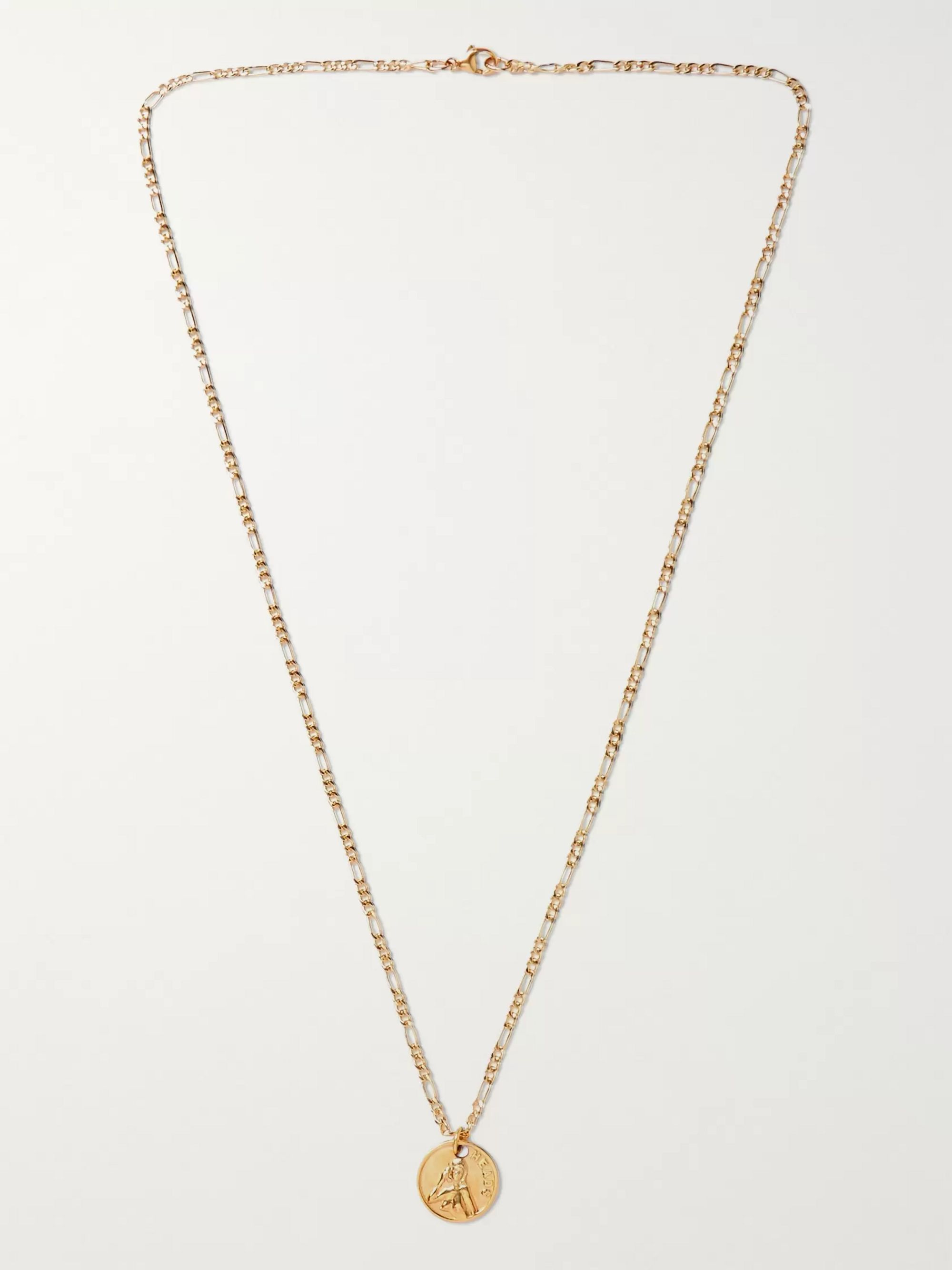 MAPLE Freaky Tails Engraved 14-Karat Gold-Filled Necklace