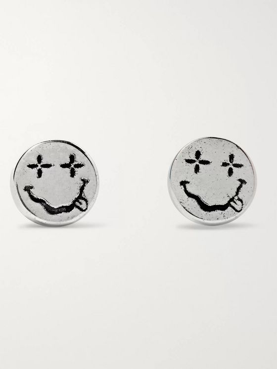 MAPLE Nevermind Engraved Sterling Silver Earrings
