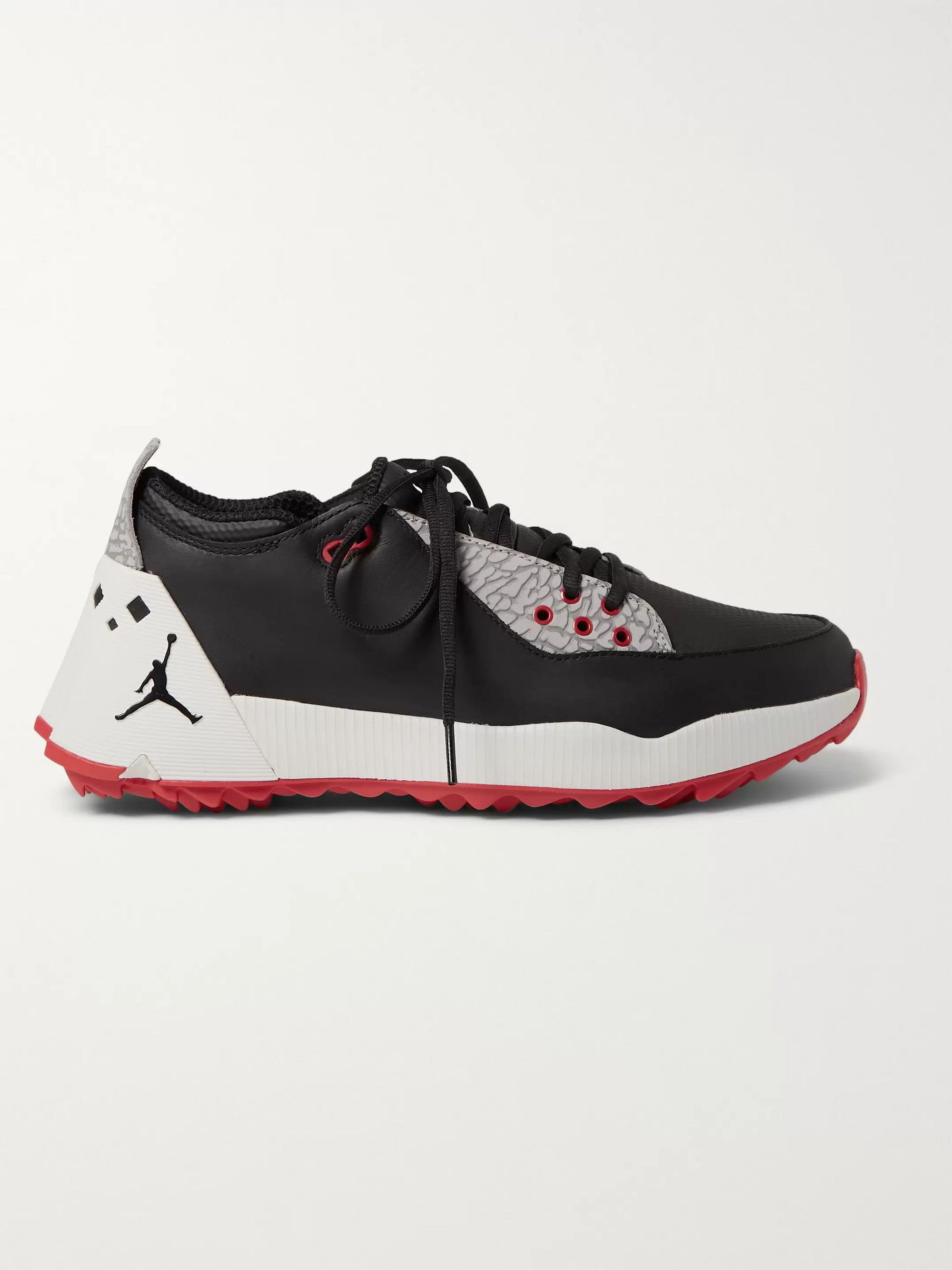 Nike Golf Jordan ADG 2 Mesh-Trimmed Leather Golf Shoes