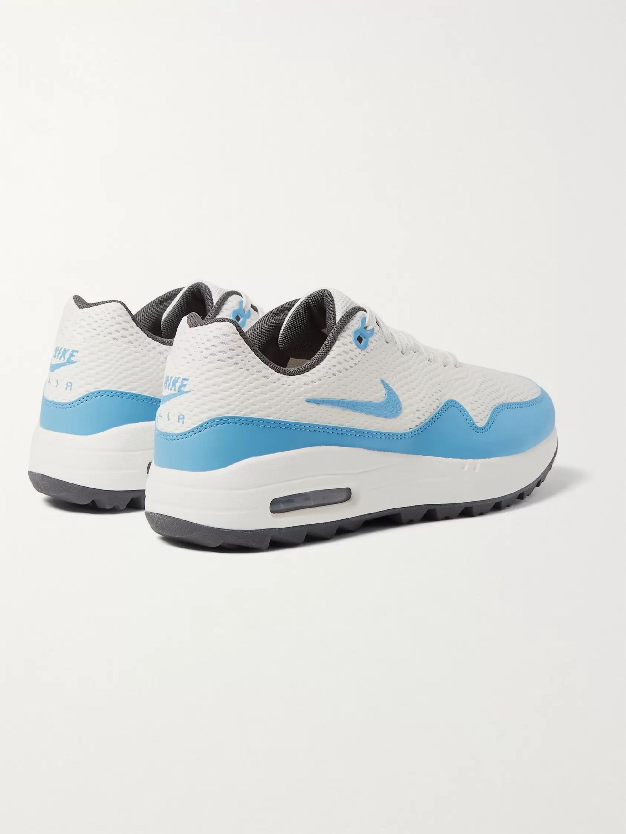 White Air Max 1g Faux Leather Trimmed Coated Mesh Golf Shoes Nike Golf Mr Porter