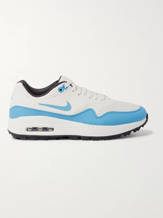 Nike Golf Air Max 1G Faux Leather-Trimmed Coated-Mesh Golf Shoes