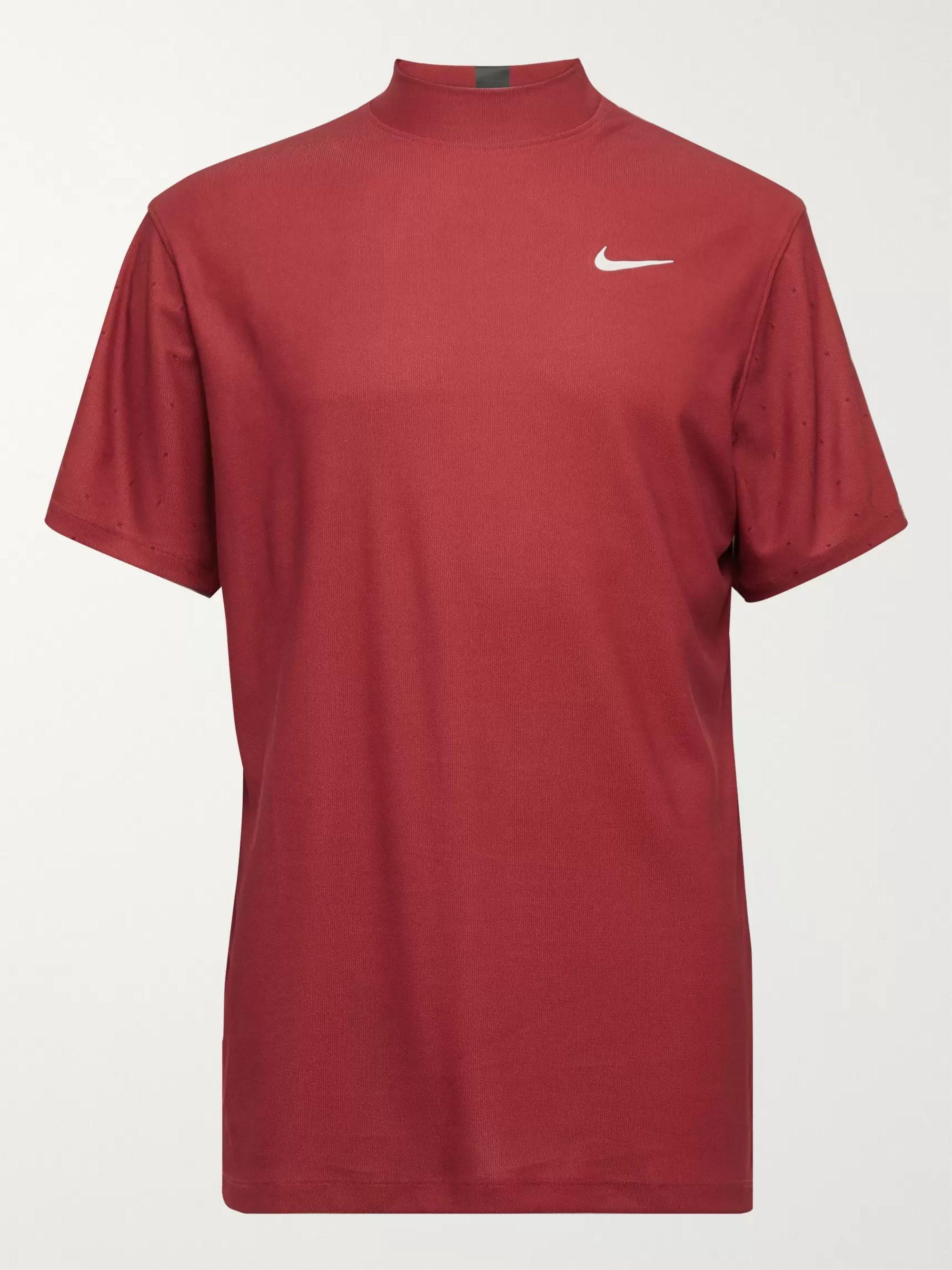 Nike Golf Tiger Woods Dri-FIT Mock-Neck Golf Top